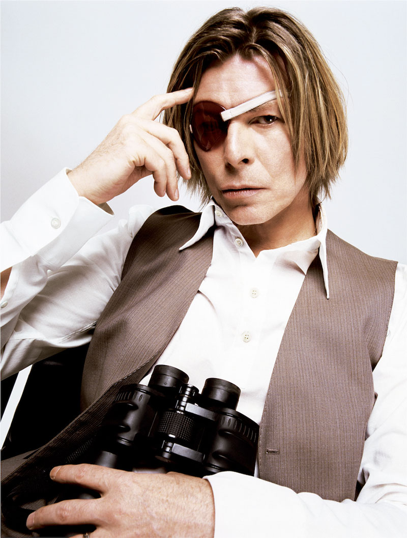 Bowie With Eye Patch, New York, 2002 ©MickRock