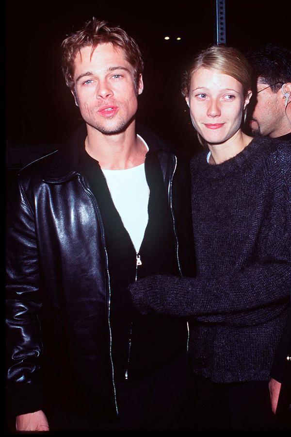 Brad Pitt lecciones en cómo usar una chamarra de piel foto getty images