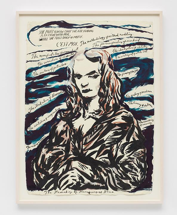 Raymond Pettibon, No title (She must know...), 2010 Cortesia del artista y David Zwirner