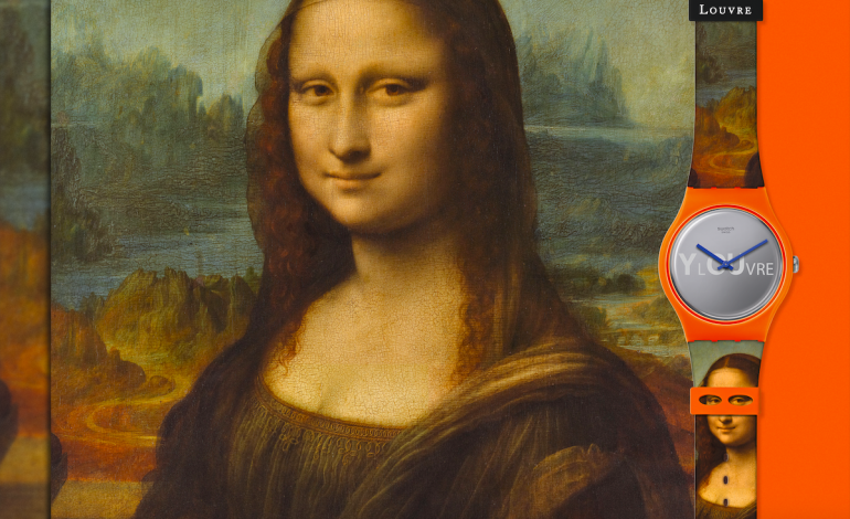 Leonardo Da Vinci al louvre foto cortesía swatch