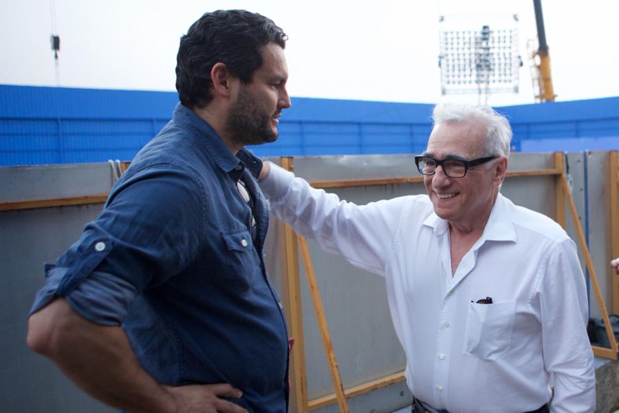 Gaston Pavlovich y Martin Scorsese Foto_ Cortesia Fábrica de sueños - Netflix
