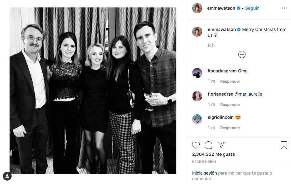 """La fotografía de Emma Watson ya casi tiene 3 millones de """"me gusta"""""""