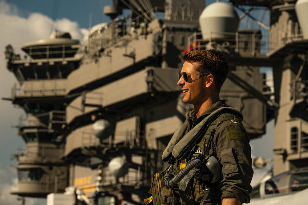 Glen Powell protagonistas Top Gun Maverick