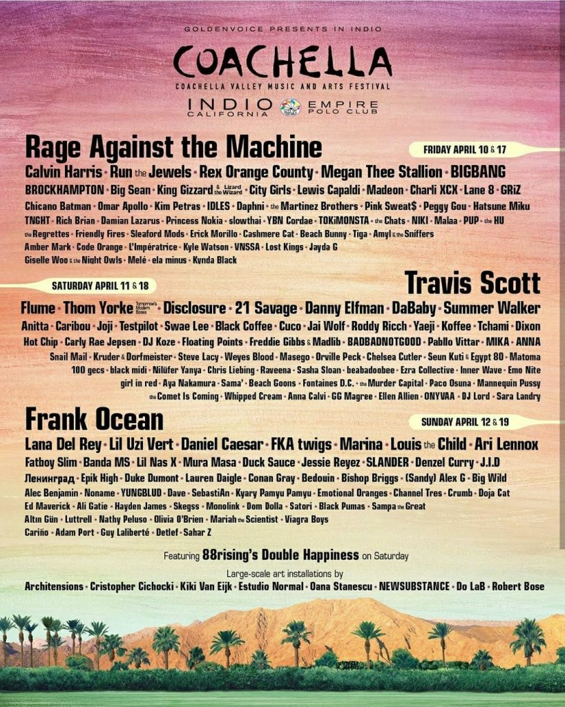 5 bandas Coachella - Foto Coachella