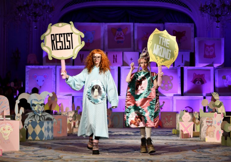 Extinction Rebellion Fashion Week Foto Getty Images