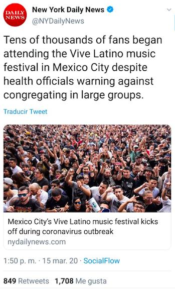 Vive Latino Coronavirus