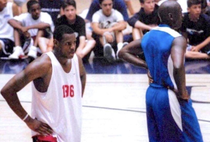 Lebron James y Michael Jordan jugando juntos