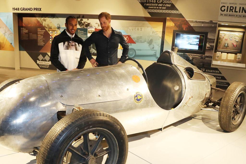 lewis hamilton principe harry museo F1 Foto Cortesía Silverstone Experience