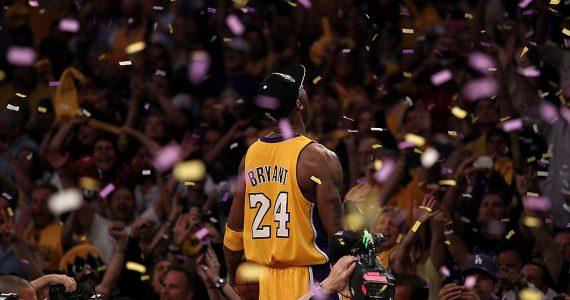Kobe Bryant al salón de la fama foto Getty Images