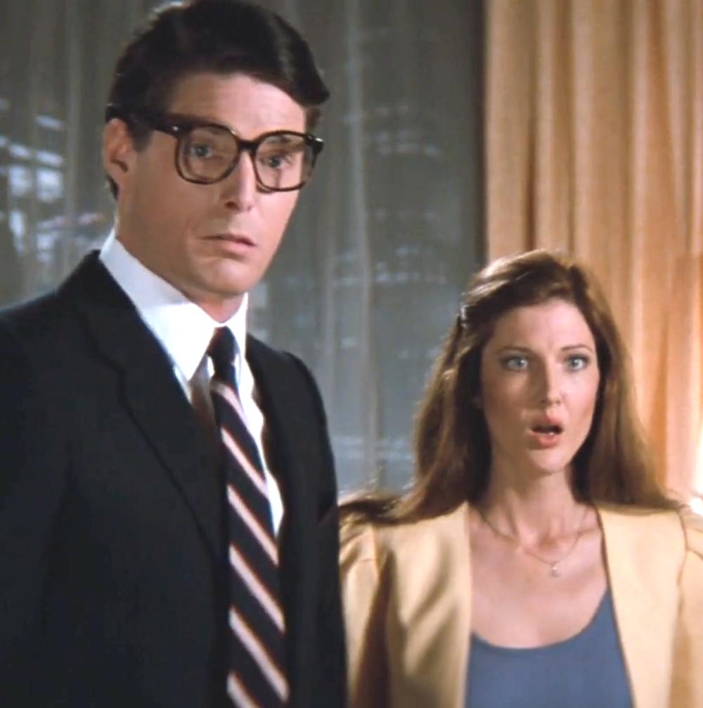 Annette O'Toole Lana Lang en Superman III, aquí junto a Christopher Reeve. Foto: Warner Bros