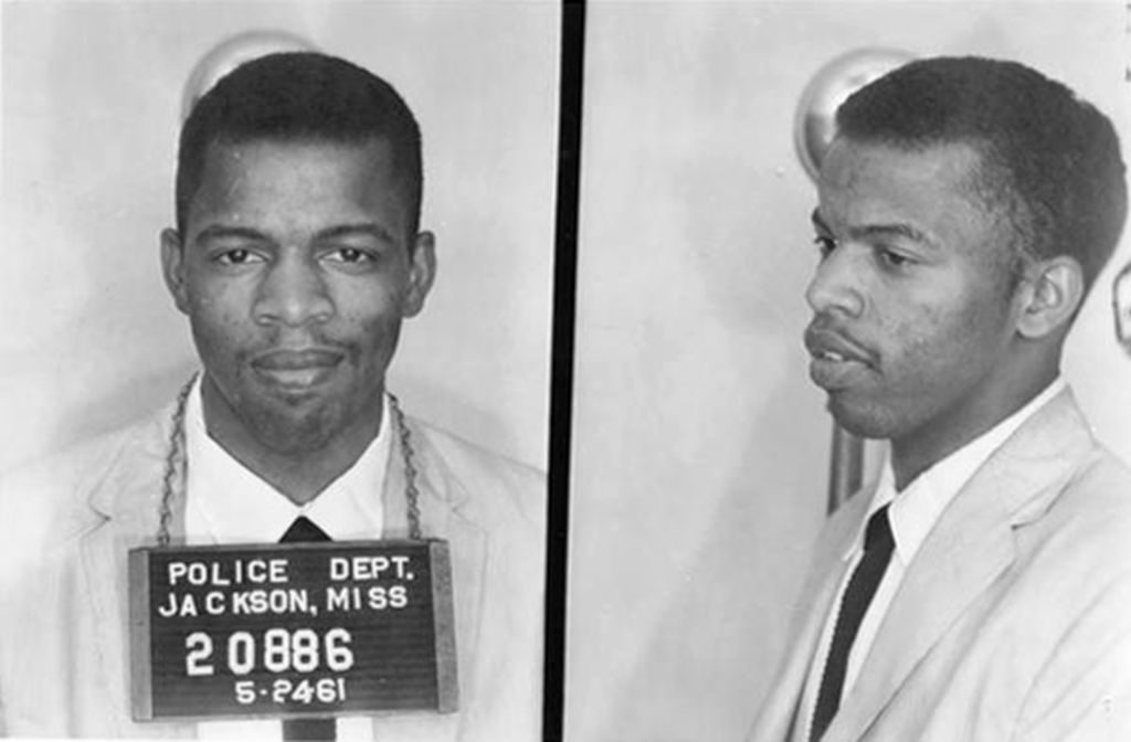 John Lewis Mug Shot civil rights Alabama