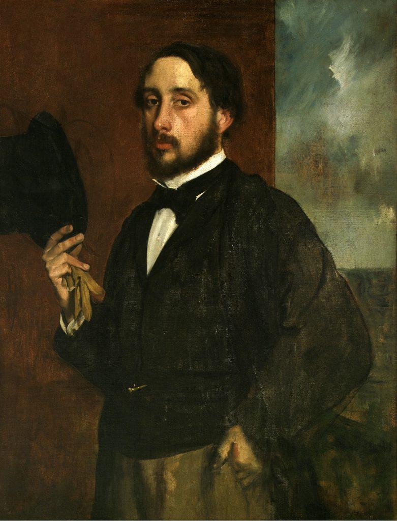 historia Edgar Degas autorretrato