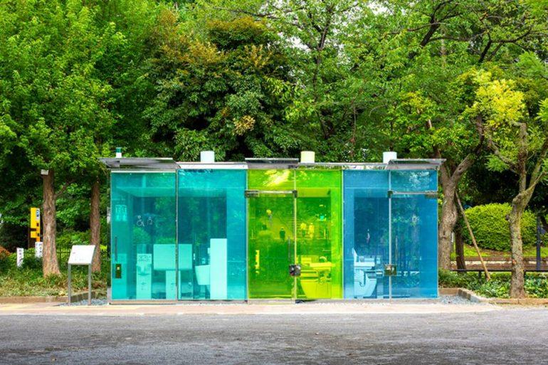 baños transparentes japon diseño