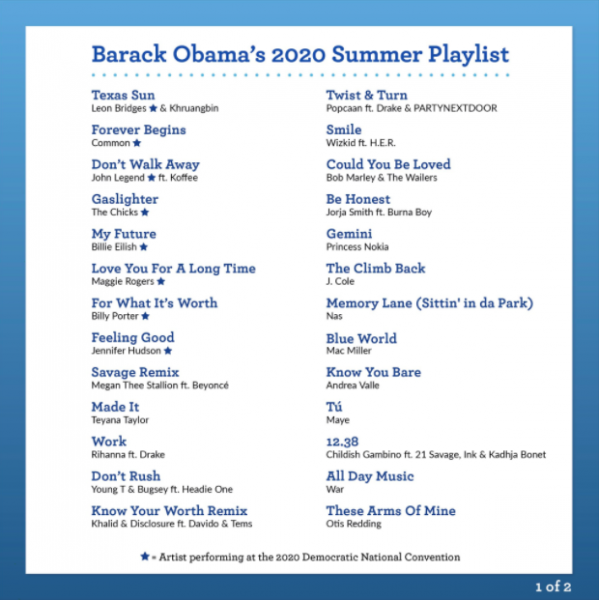 canciones favoritas de obama reggaetón 2020 I