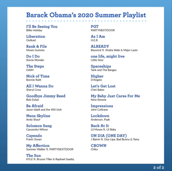 canciones favoritas de obama reggaetón 2020