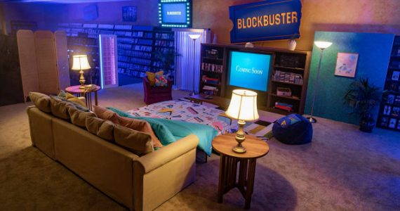 Blockbuster Airbnb Oregon 90's