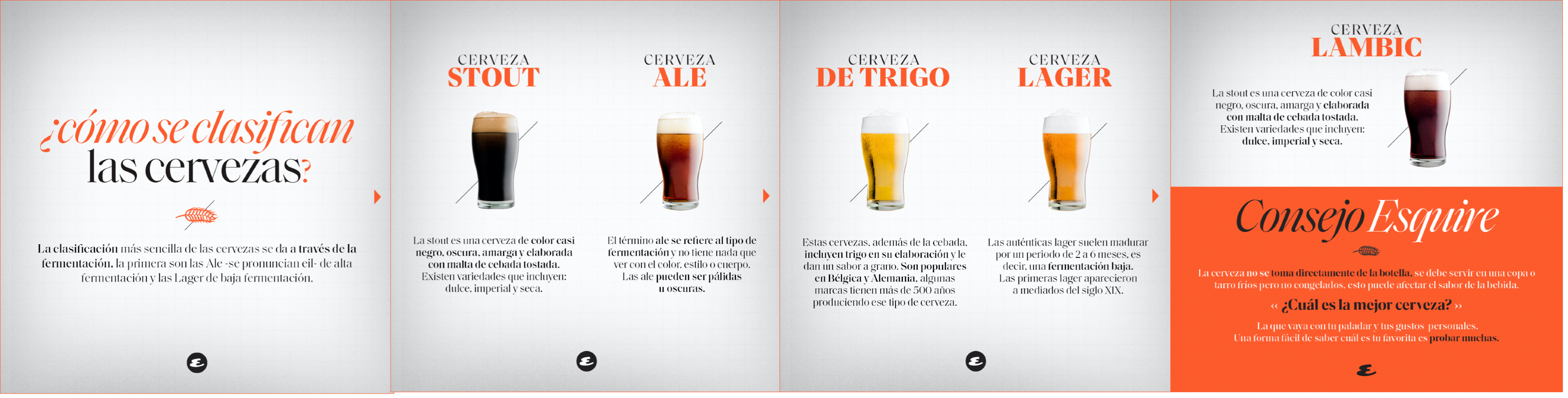 tipos de cerveza infografía cerveza