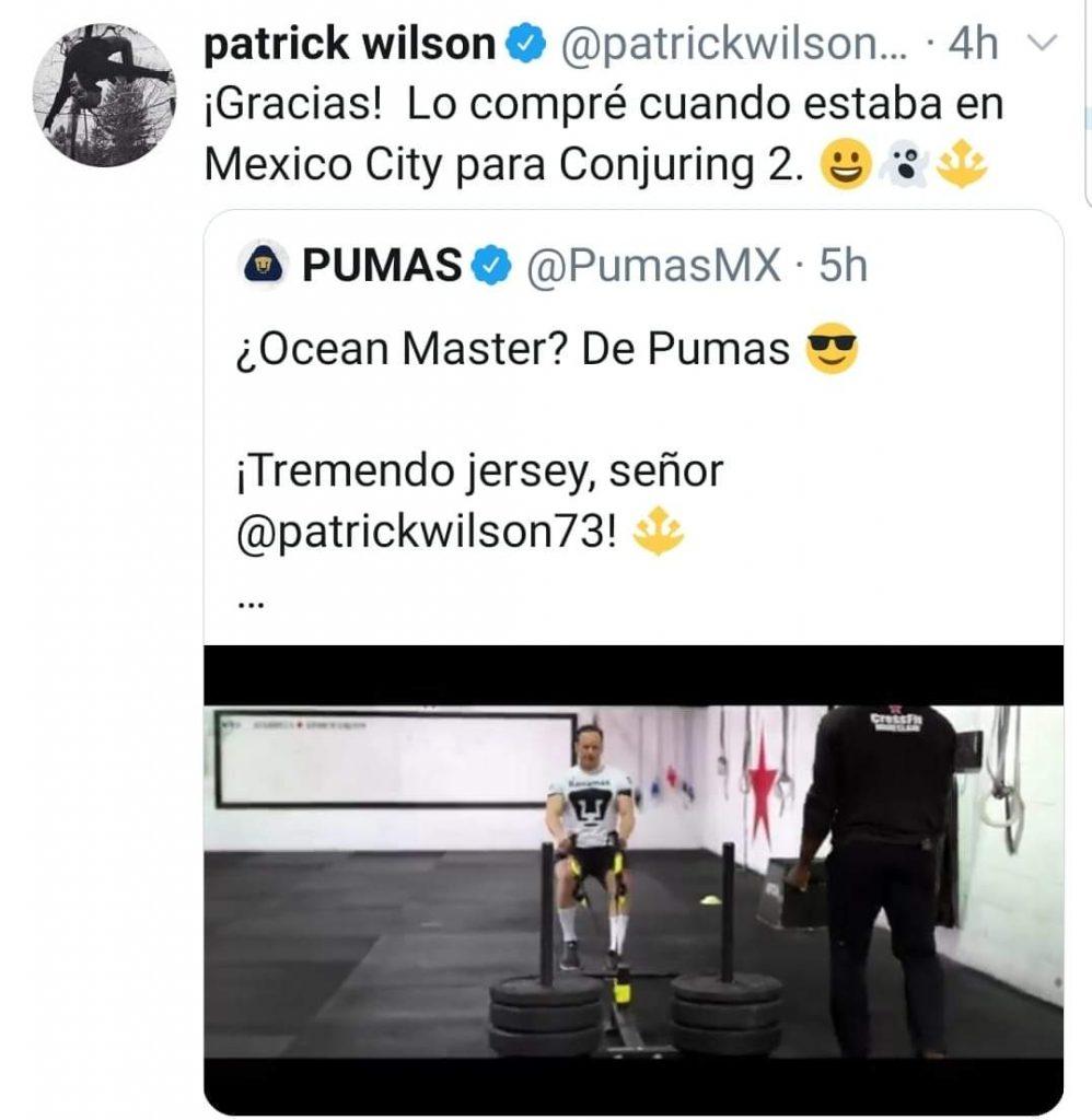 patrick wilson jersey pumas twitter