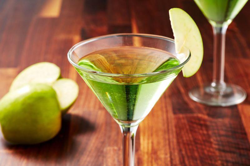Cocteles con vodka fáciles Appletini