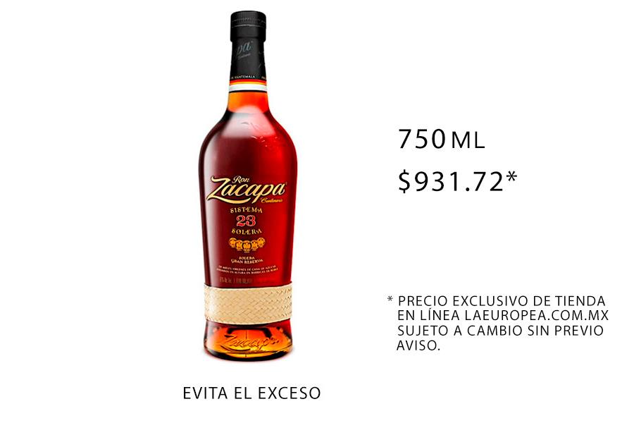 Ron Zacapa botellas rones para los mejores drinks