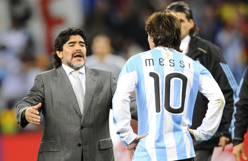 Muere Maradona messi
