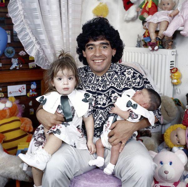 Maradona y sus bebés