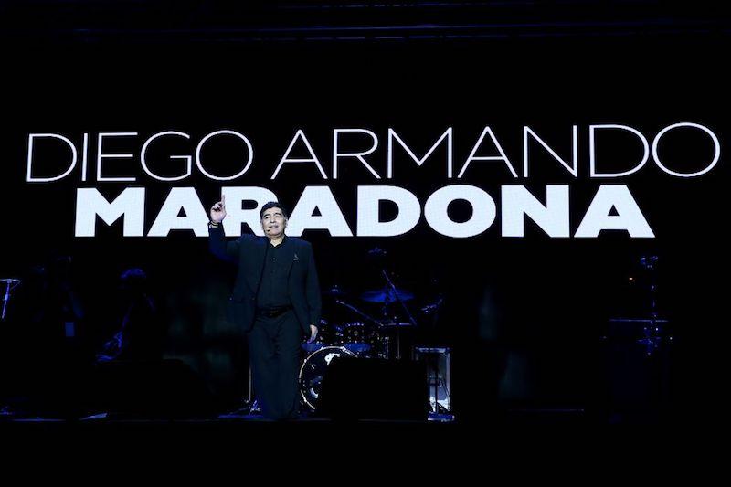 Maradona en speech