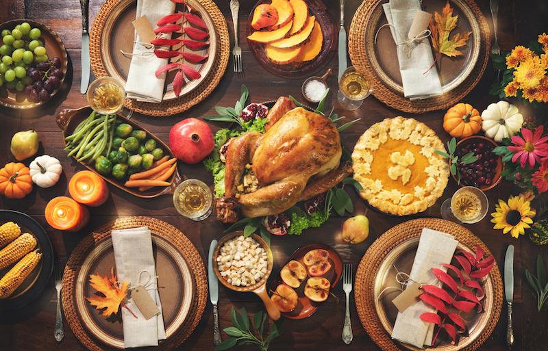 Por qué se come pavo en el Día de Acción de Gracias Menú