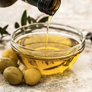 Aceite de oliva comida saludable