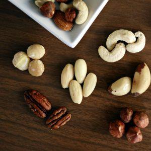 Nueces comida saludable