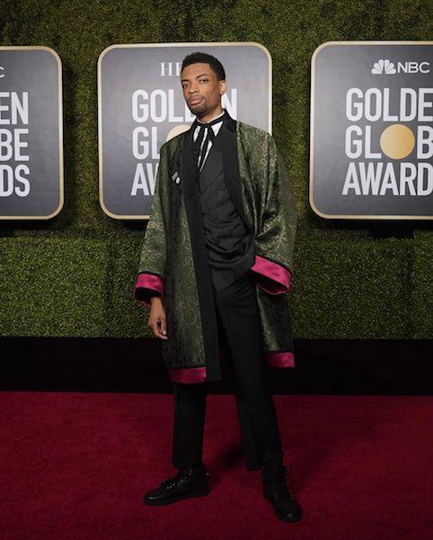 Golden Globes 2021 hombres mejor vestidos Jackson Lee