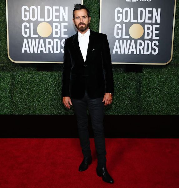 Golden Globes 2021 hombres mejor vestidos Justin Theroux