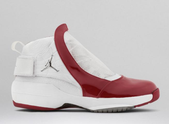 Zapato deportivo blanco con rojo