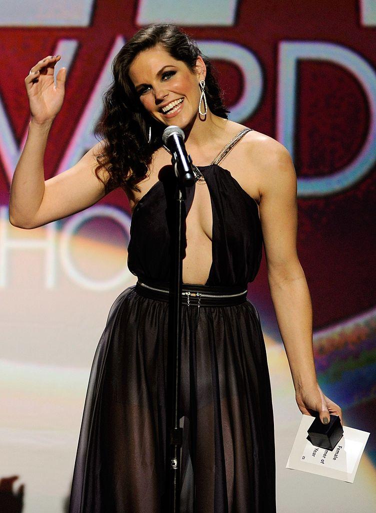 Bobbi Starr en evento con vestido de gala negro