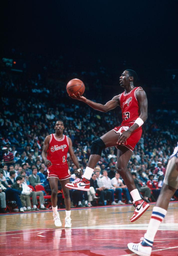 Michael Jordan en juego con los Chicago Bulls