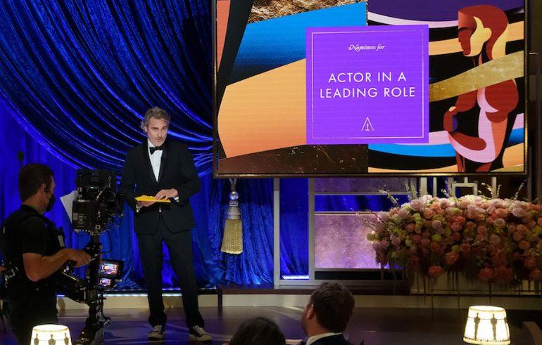 Chadwick Boseman Oscars 2021 Joaquin Phoenix