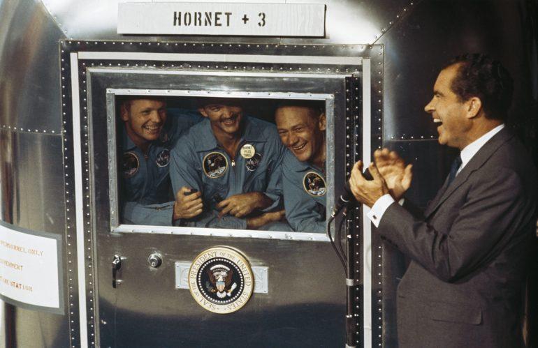 Michael Collins Apollo 11 Armstrong Aldrin Nixon
