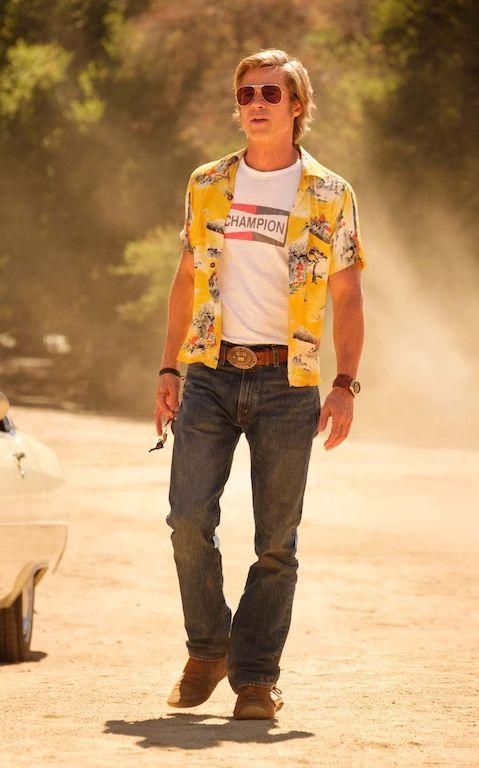 Moda en las películas de Tarantino brad pitt