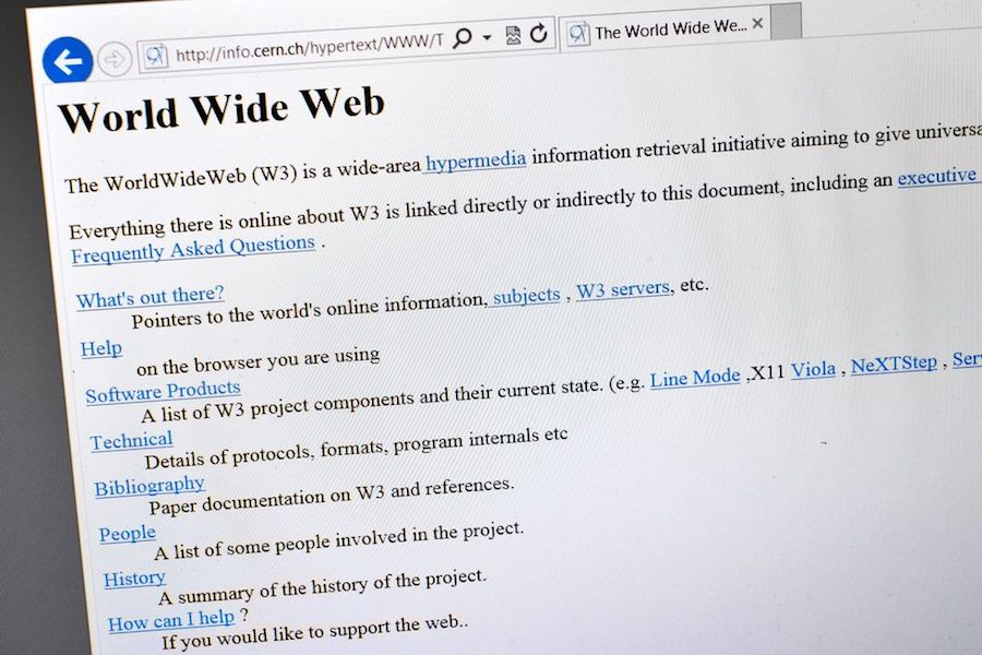 Historia del Internet World wide web