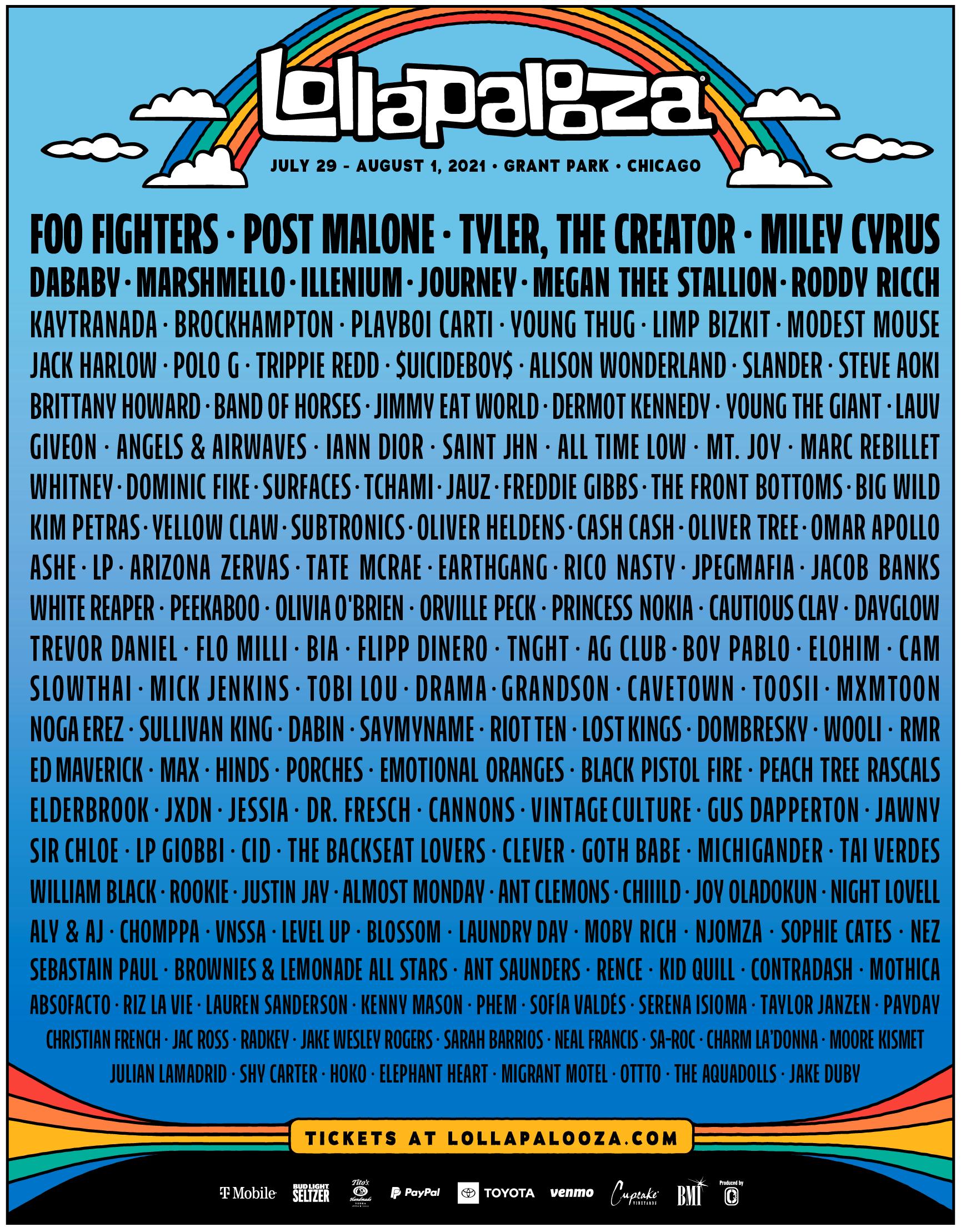 Lollapalooza 2021 Bandas Cartel Calendario