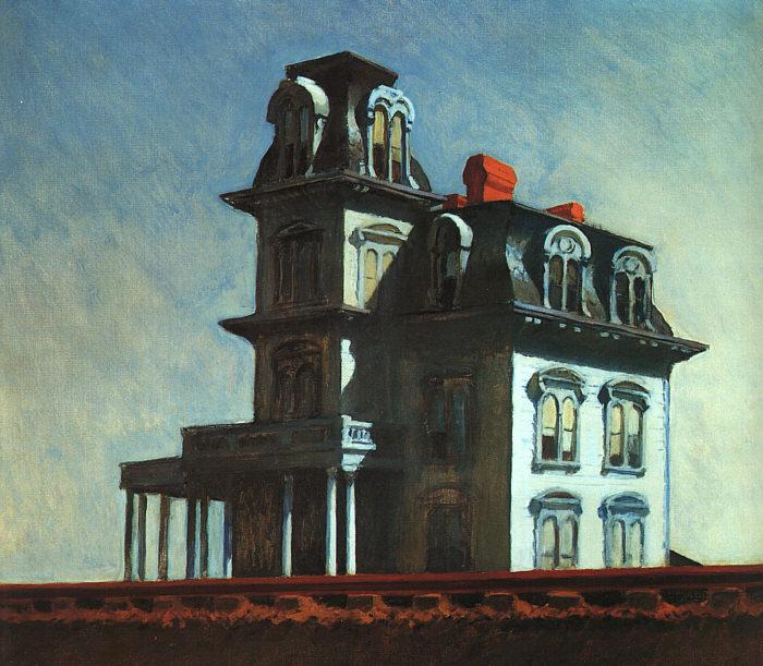 House by the Railroad Edward Hopper