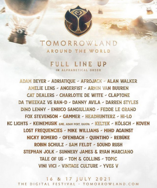 Tomorrowland: Festivales de música 2021
