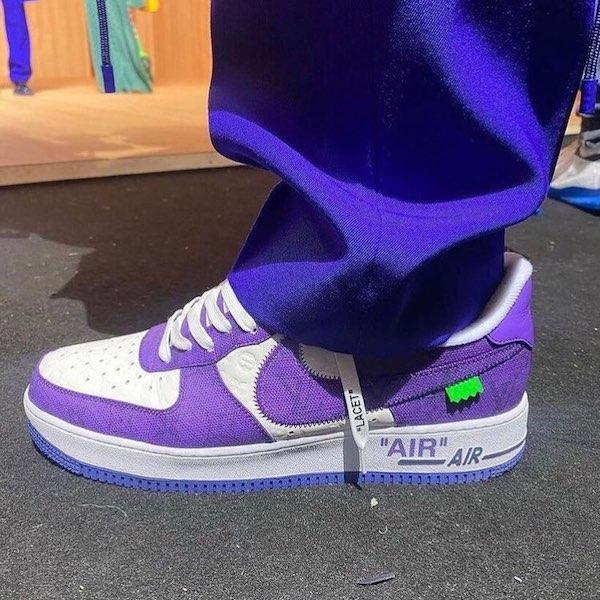 Louis Vuitton Nike morado