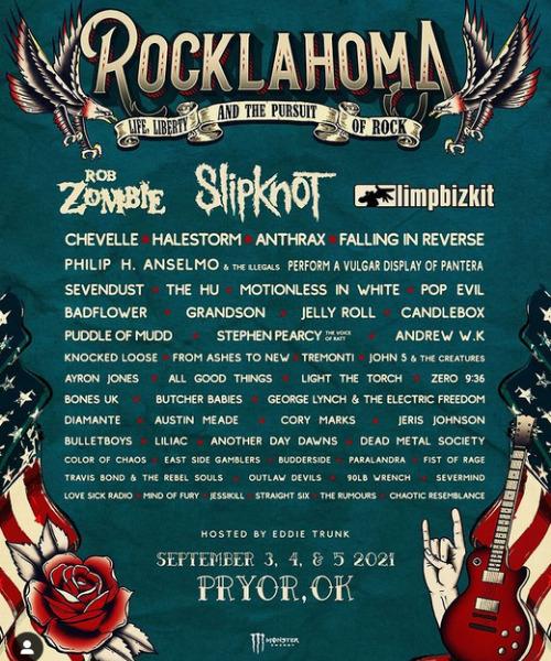 Rocklahoma: festivales de música 2021