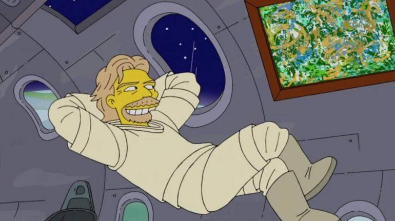Los Simpson predijeron el viaje de Richard Branson al espacio