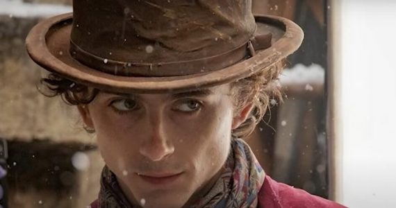 willy wonka con timothee chalamet